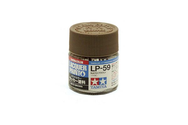 TAMIYA  82159 LP-59 NATO BROWN LACQUER PAINT  UK SALE ONLY