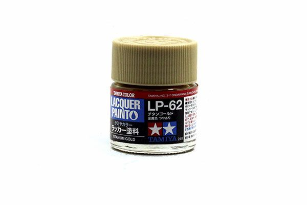 TAMIYA  82162 LP-62 TITANIUM GOLD LACQUER PAINT  UK SALE ONLY