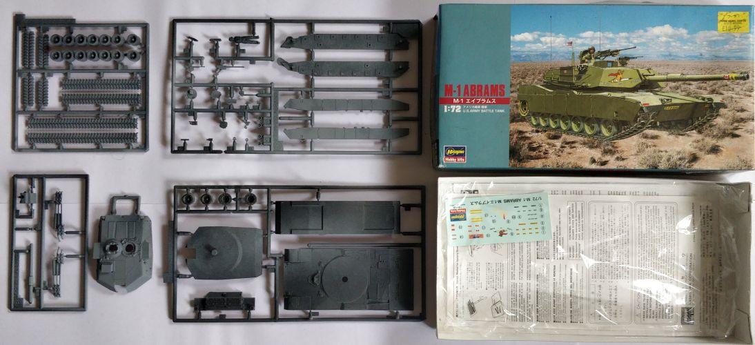 KINGKIT MODEL SCRAPYARD 1/72 HASEGAWA - MT33 M-1 ABRAMS US ARMY BATTLE TANK - PRIMED