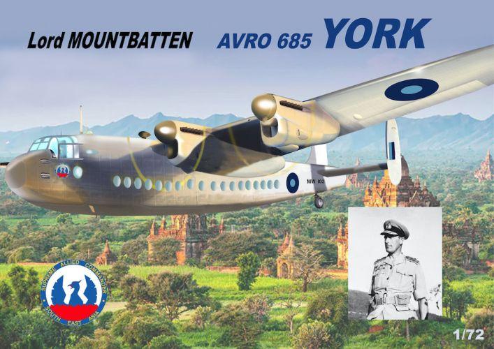 MACH 1/72 GP109 AVRO 685 YORK LORD MOUNTBATTEN