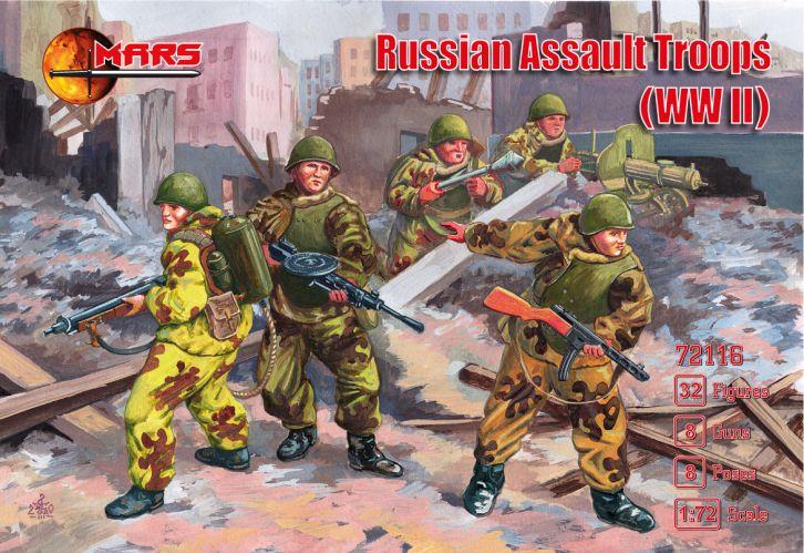 MARS 1/72 72116 RUSSIAN ASSAULT TROOPS WWII