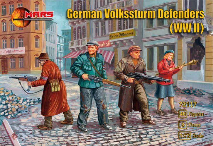 MARS 1/72 72117 GERMAN VOLKSSTURM DEFENDERS WWII