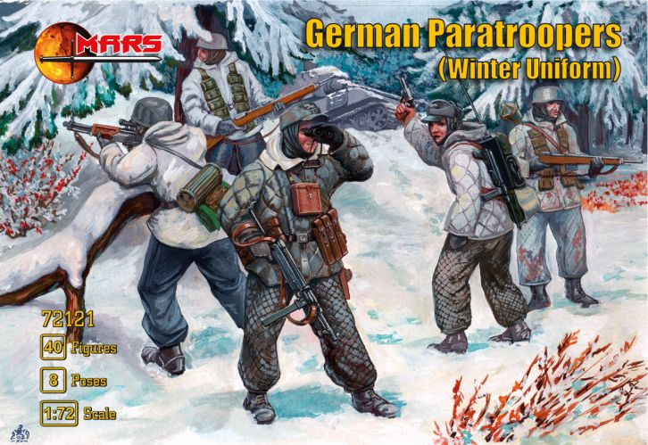 MARS 1/72 72121 GERMAN PARATROOPERS IN WINTER UNIFORM