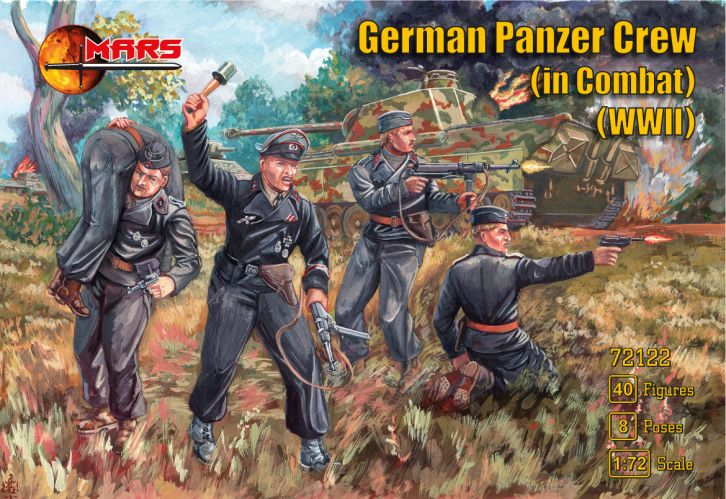 MARS 1/72 72122 GERMAN PANZER CREW IN COMBAT