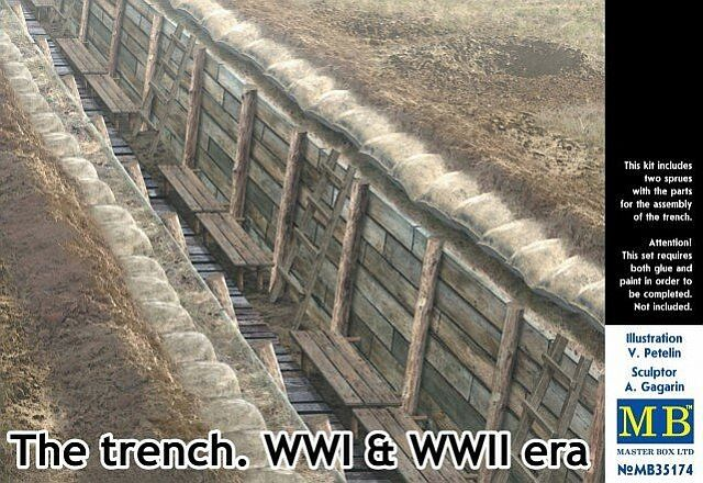 MASTERBOX 1/35 35174 THE TRENCH WWI   WWII ERA