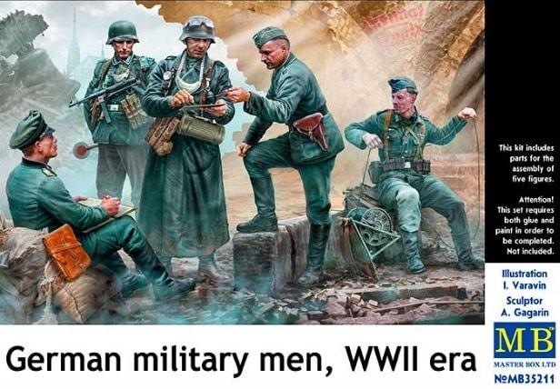 MASTERBOX 1/35 35211 GERMAN MILITARY MEN WWII ERA