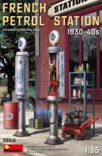 MINIART 1/35 35616 FRENCH PETROL STATION 1930-1940s