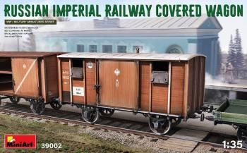 MINIART 1/35 39002 RUSSIAN IMPERIAL RAILWAY COVERED WAGON
