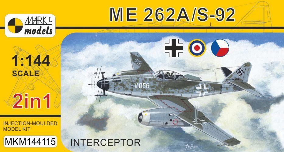 MARK I MODELS 1/144 144115 MESSERSCHMITT ME 262A/S-92 INTERCEPTOR