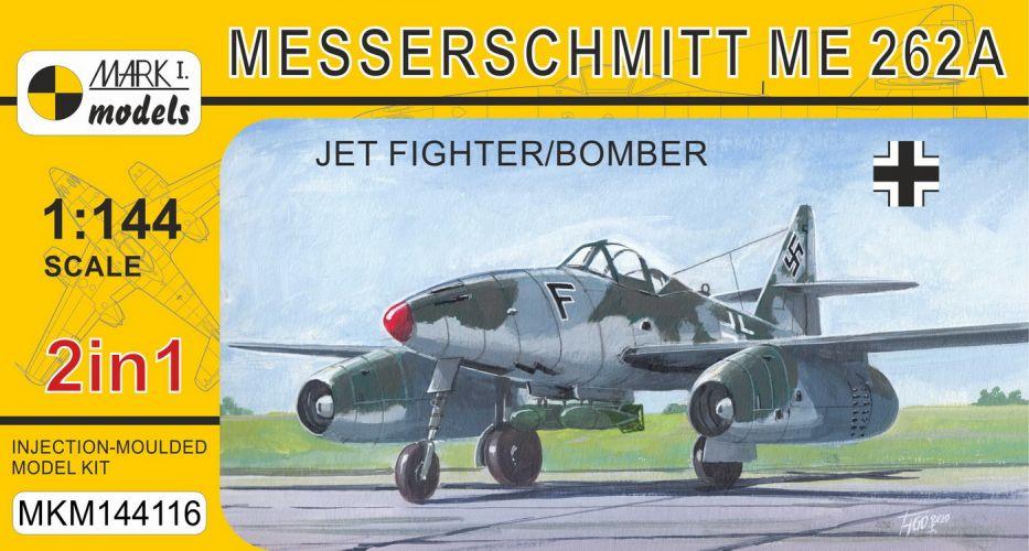 MARK I MODELS 1/144 144116 MESSERSCHMITT ME 262A JET FIGHTER/BOMBER