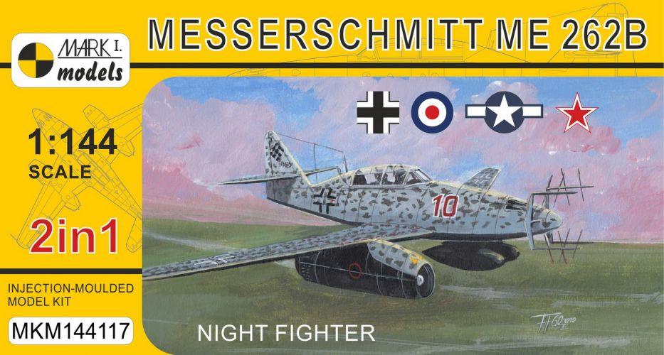 MARK I MODELS 1/144 144117 MESSERSCHMITT ME 262B NIGHT FIGHTER
