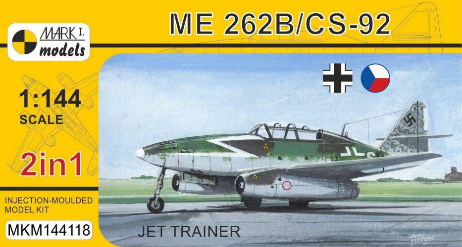 MARK I MODELS 1/144 144118 MESSERSCHMITT ME 262/ CS-92 JET RANGER