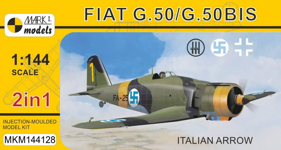 MARK I MODELS 1/144 144128 FIAT .50/ G.50 BIS ITALIAN ARROW
