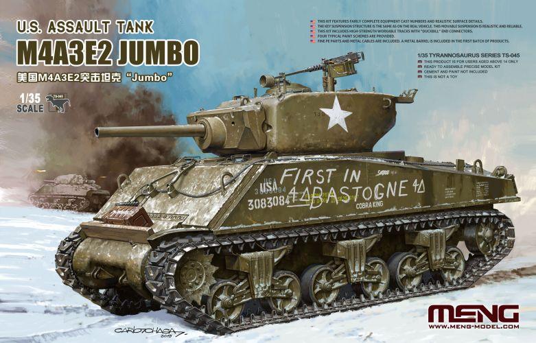 MENG 1/35 TS-045 M4A3E2 JUMBO