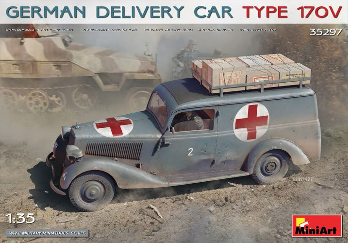 MINIART 1/35 35297 GERMAN DELIVERY CAR TYPE 170V