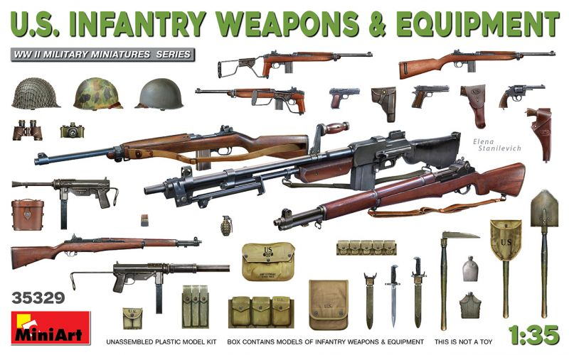 MINIART 1/35 35329 U.S. INFANTRY WEAPONS AND EQUIPMENT