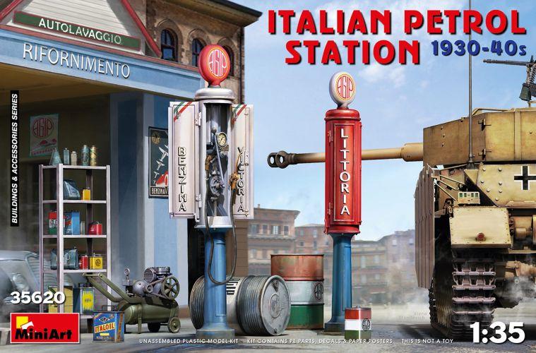 MINIART 1/35 35620 ITALIAN PETROL STATION 1930-40s