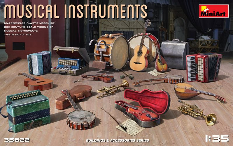 MINIART 1/35 35622 MUSICAL INSTRUMENTS