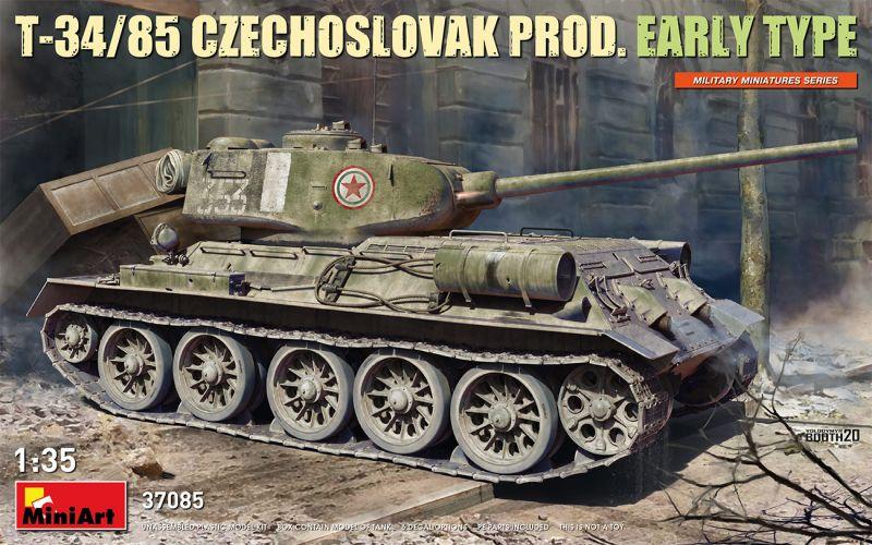 MINIART 1/35 37085 T-34/85 CZECHOSLOVAK PROD. EARLY TYPE