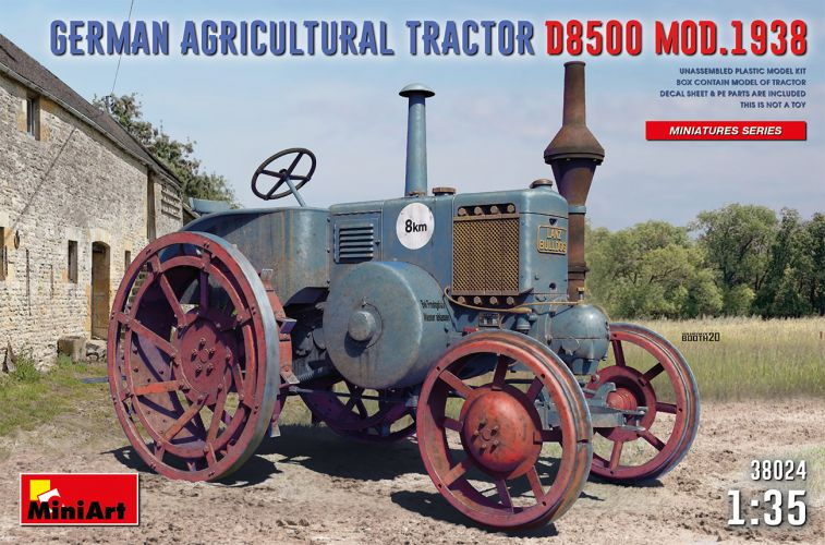 MINIART 1/35 38024 GERMAN AGRICULTURAL TRACTOR D8500 MOD.1938