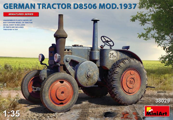 MINIART 1/35 38029 GERMAN TRACTOR D8506 MOD. 1937