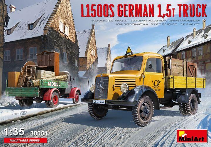 MINIART 1/35 38051 L1500S GERMAN 1.5T TRUCK