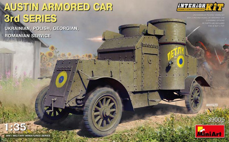 MINIART 1/35 39005 AUSTIN ARMOURED CAR 3rd SERIES UKRANIAN POLISH GEORGIAN ROMANIAN SERVICE