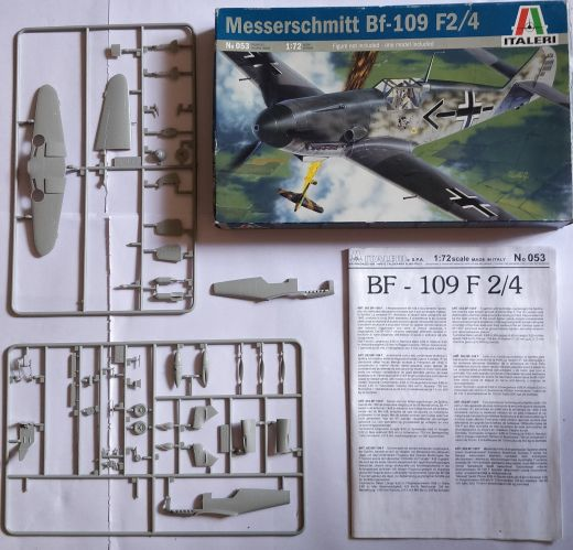 KINGKIT MODEL SCRAPYARD 1/72 ITALERI - 053 MESSERSCHMITTBF-109 F2/4 - INCOMPLETE   NO DECALS