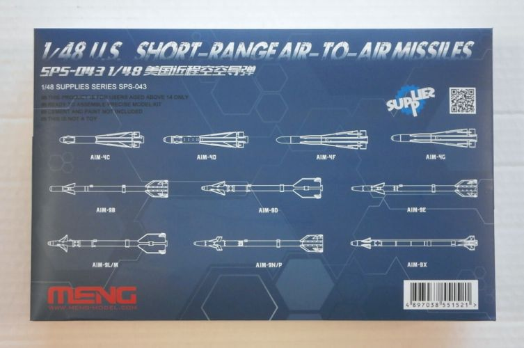 MENG 1/48 SPS-043 U.S. SHORT-RANGE AIR-TO-AIR MISSILES