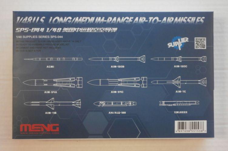 MENG 1/48 SPS-044 U.S. LONG/MEDIUM-RANGE AIR-TO-AIR MISSILES