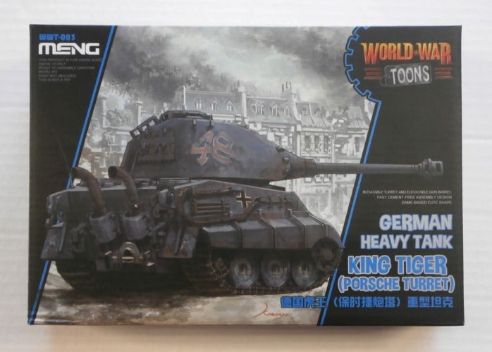 MENG  WWT-003 GERMAN HEAVY TANK KING TIGER  PORSCHE TURRET