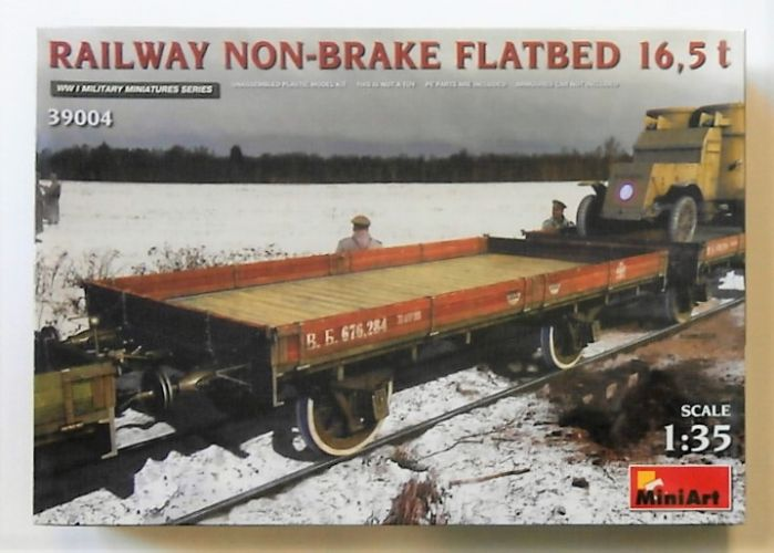 MINIART 1/35 39004 RAILWAY NON-BRAKE FLATBED 16.5T