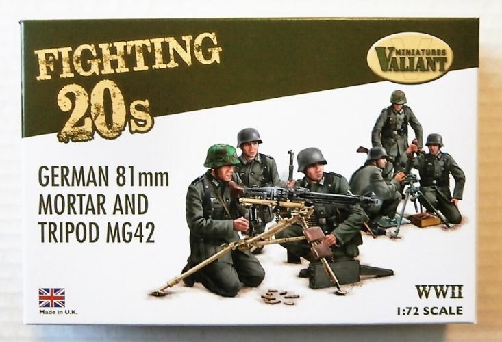 VALIANT MINIATURES 1/72 FT002 GERMAN 81mm MORTAR AND TRIPOD MG42