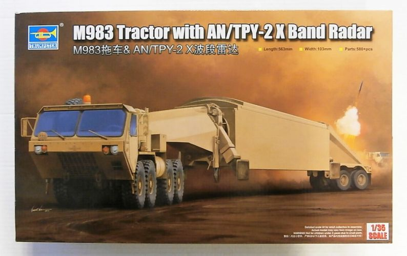 TRUMPETER 1/35 01059 M983 TRACTOR WITH AN/TPY-2 X BAND RADAR