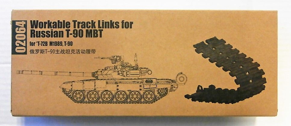 TRUMPETER 1/35 02064 WORKABLE TRACK LINKS FOR RUSSIAN T-90 MBT