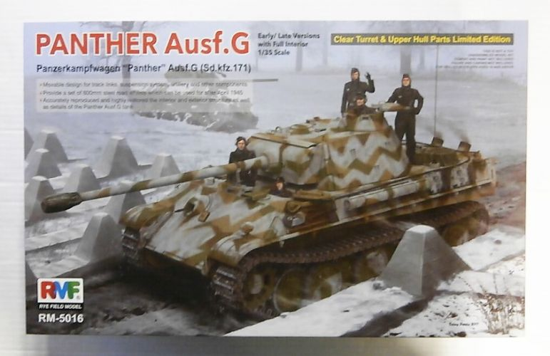 RYE FIELD MODEL 1/35 5016 PANTHER AUSF.G EARLY/LATE VERSIONS WITH FULL INTERIOR