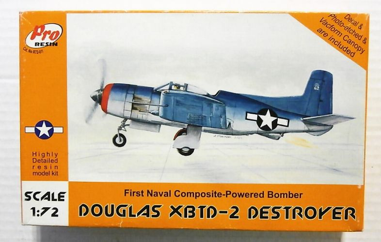 PRO RESIN 1/72 72011 DOUGLAS XBTD-2 DESTROYER