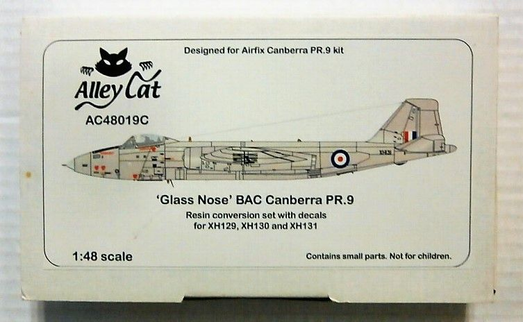 ALLEY CAT 1/48 48019C GLASS NOSE BAC CANBERRA PR.9 RESIN CONVERSION SET