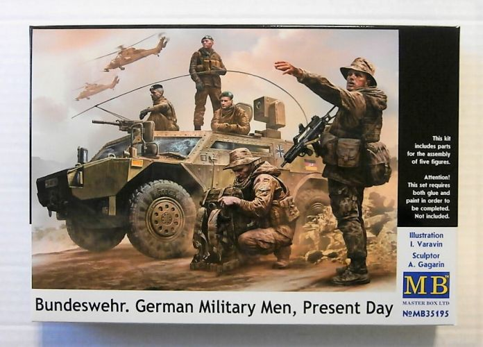 MASTERBOX 1/35 35195 BUNDESWEHR GERMAN MILITARY MEN PRESENT DAY.