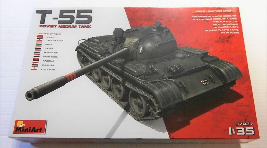 MINIART 1/35 37027 T-55 SOVIET MEDIUM TANK