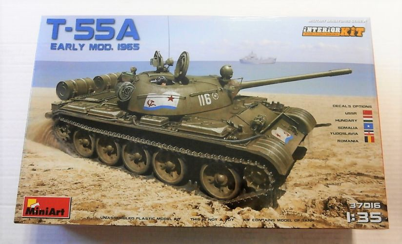 MINIART 1/35 37016 T-55A SOVIET TANK Mod 1965 WITH INTERIOR