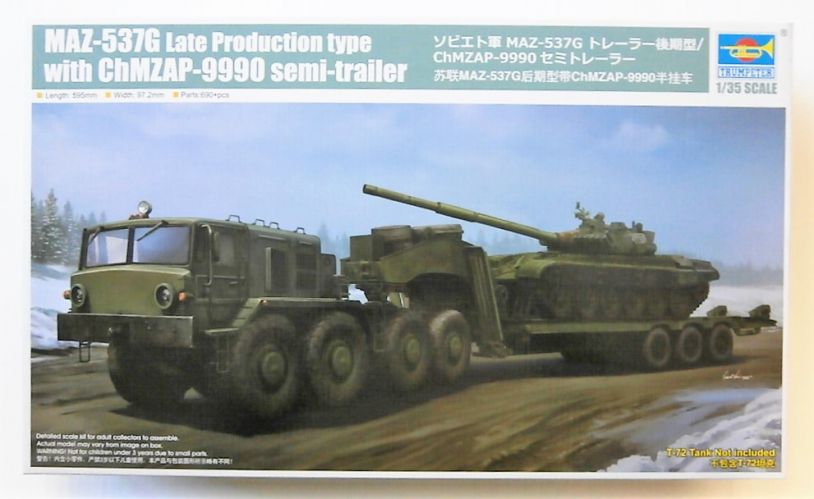 TRUMPETER 1/35 01065 MAZ-537G LATE PRODUCTION TYPE WITH CHMZAP-9990 SEMI-TRAILER  UK SALE ONLY
