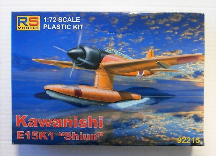 RS MODELS 1/72 92215 KAWANISHI E15K1 SHIUN FLOAT PLANE