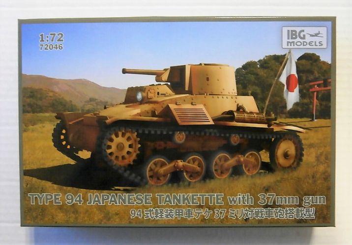 IBG MODELS 1/72 72046 TYPE 94 JAPANESE TANKETTE WITH 37MM GUN