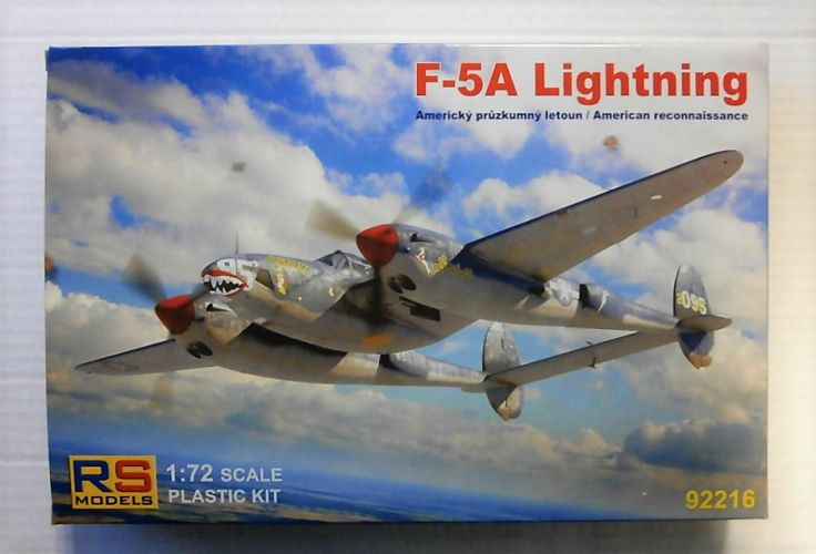 RS MODELS 1/72 92216 LOCKHEED F-5A LIGHTNING