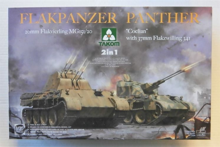 TAKOM 1/35 2105 FLAKPANZER PANTHER 2 in 1