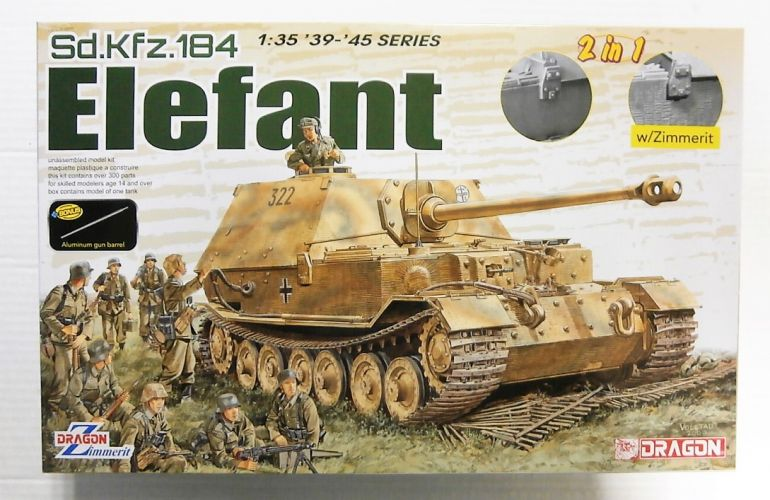 DRAGON 1/35 6871 Sd.Kfz.184 ELEFANT  2 in 1  w/ZIMMERIT