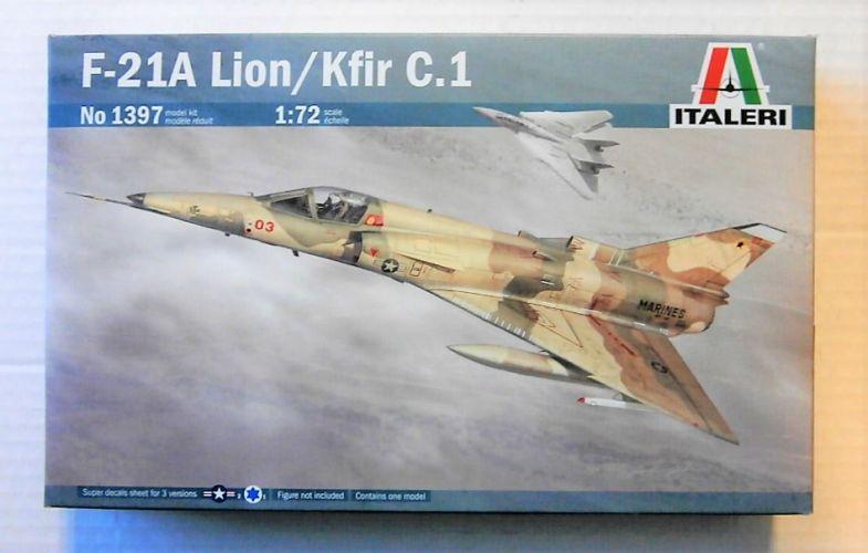 ITALERI 1/72 1397 F-21A LION KFIR C.1