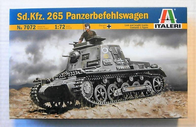 ITALERI 1/72 7072 SD.KFZ.265 PANZERBEFEHISWAGEN