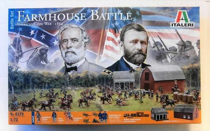 ITALERI 1/72 6179 FARMHOUSE BATTLE AMERICAN CIVIL WAR 1864